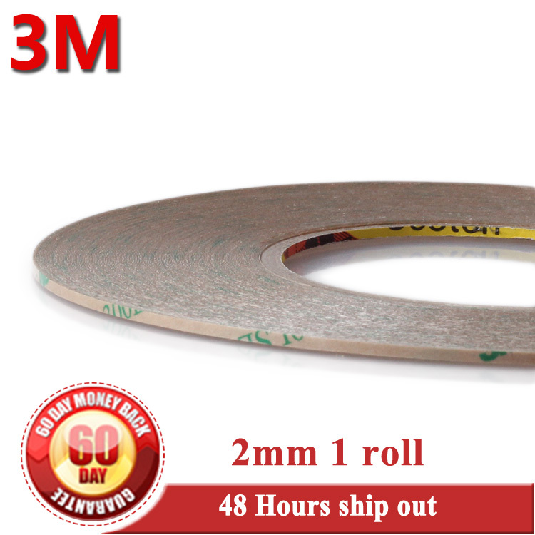 Promotion! 1x 2mm*55M 3M 300LSE Transparent 2 Sides Sticky Super Strong Adhesive Tape for ipad iPhone Frame Touch Panel Repair(China (Mainland))