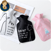water filling hot water bag cartoon lovely warm gifts for girls thick printed cloth hand warming hot sale free shipping(China (Mainland))