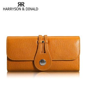 2013 wallet women's wallet long design genuine cowhide fashion leather fashion three fold wallet