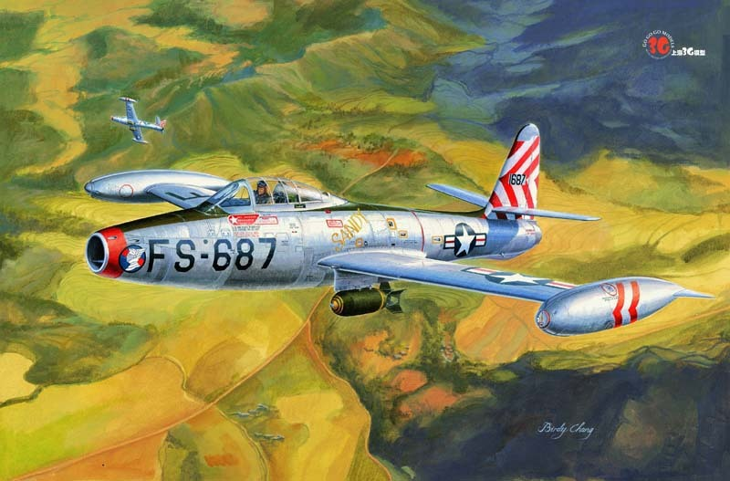 Trumpeter assembly aircraft model 83207 1/32 US F-84E fighter-bombers