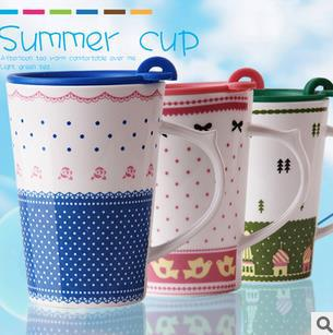 Free shipping 60pcs/lot Rural style ceramic cup Cute Coffee cup Special offer Wholesale(China (Mainland))