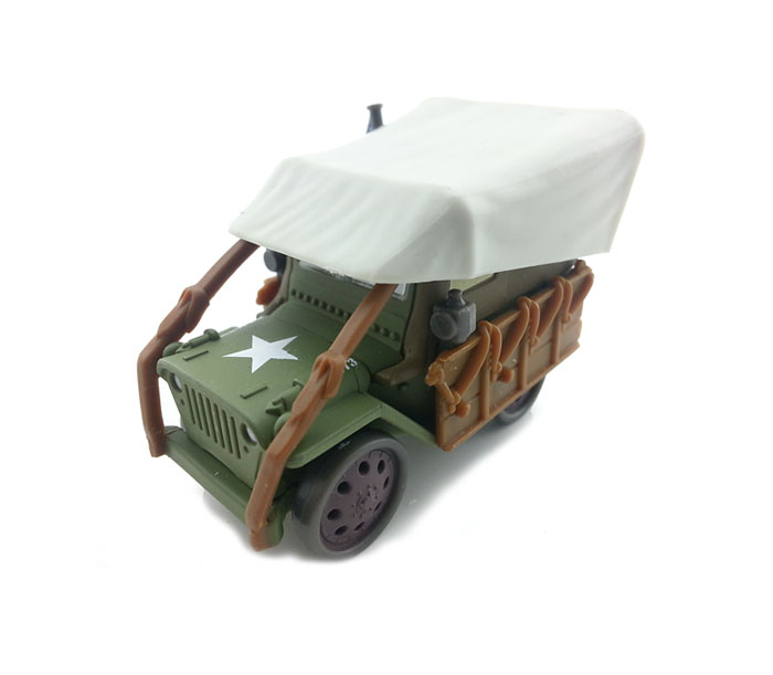 Pixar Movie Cars Diecast Old Timer Sarge With US Flag Toy Car(China (Mainland))