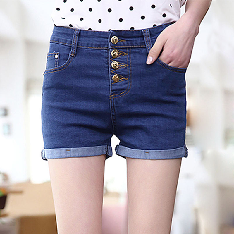 New products sell like hot cakes in the summer of 2016 yards tall waist edge among big fashion thin curly short jeans(China (Mainland))