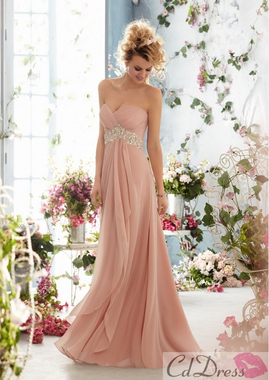 2016 inventory spot!Strapless bind with being inexpensive Price!Sweetheart Beading Crystal Floor Lenght Chiffon Evening Dresse(China (Mainland))