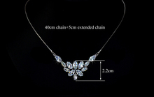 Marquise cut Swiss CZ Spring Flower Bridal Wedding Jewelry Accessories Fashion Necklaces Pendants Free Shipping