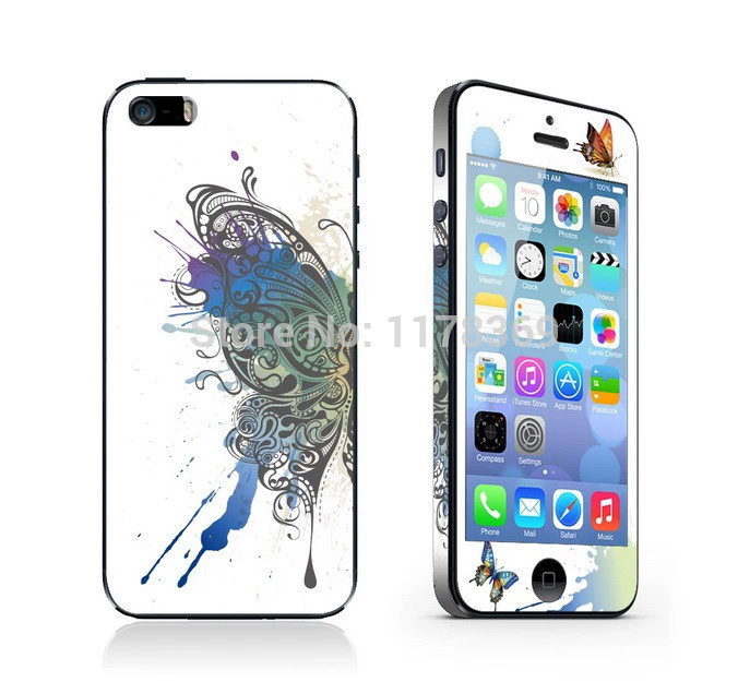 Half a butterfly luminous ShanZuan mobile phone stickers for iphone 5 5s, stickers on the phone free shipping