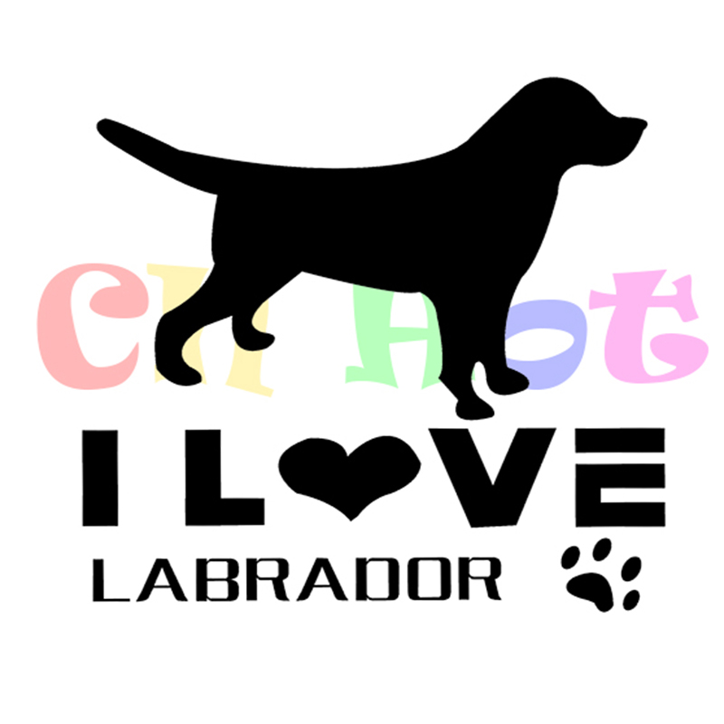 I Love Labradors Dog Car Sticker By Starprint Van, Truck Window/bumper Die Cut Sticker Ideal For Dog Owners reflective(China (Mainland))
