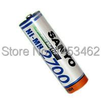 Original Sanyo Ni-MH AA 2700mAh Rechargeable Battery Batteries,4pcs/pack - 2014 store