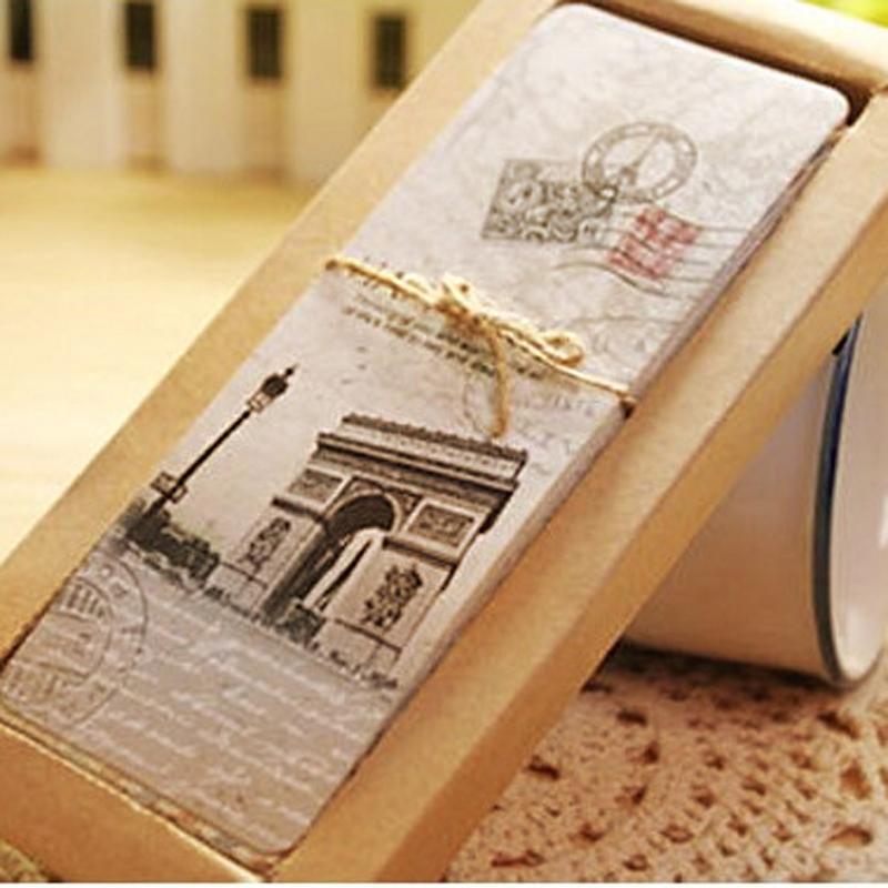 Vintage European Scenes Paper Book Marks Retro France Paris Eiffel Tower Bookmark Set(China (Mainland))