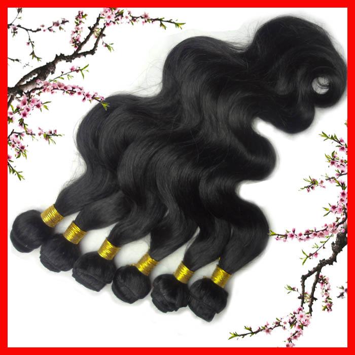 """Malaysia Hair, Cheap Hair Extenaion, Body Wave ,Mix length 12""""14""""16""""18""""20""""22""""24""""28"""", Natural Black, Express Free Shipping(China (Mainland))"""