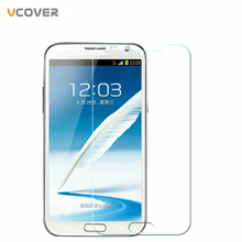 Vcover Ultra-thin Tempered Glass Film Explosion Proof Screen Protector for Samsung Galaxy Note 2 II N7100 N7105 Protective Film(China (Mainland))