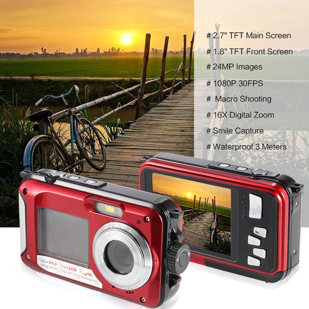 2017 Hot 1080P Digital Video Camera DC-16 3meters Waterproof DVR Max 32GB TF Card Memory 16x Digital Zoom Mini DV Made China