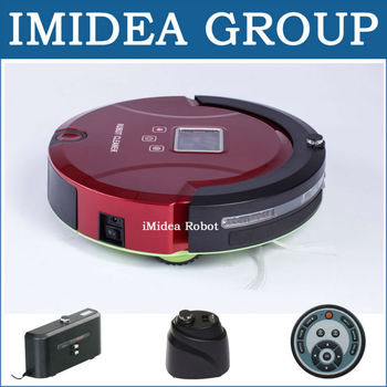 5 In 1 Multifunction Robot Vacuum Cleaner Sweep,Vacuum,Mop,Sterilize,LCD Screen,Touchpad,Schedule,2 pcs Virtual Wall,Self Charge