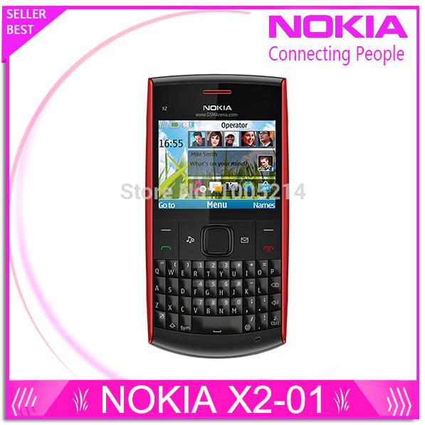 Refurbished Nokia X2-01 Original Phone Symbian OS X2-01 computer keyboard mobile phone fashion cell phones free shipping(China (Mainland))