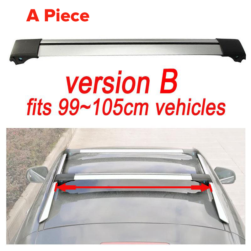 Universal 1x Car Roof Rack Cross Bar 99cm~105cmTop Luggage Cargo With Lock System For Most Vehicles With Raised Side Rails(China (Mainland))