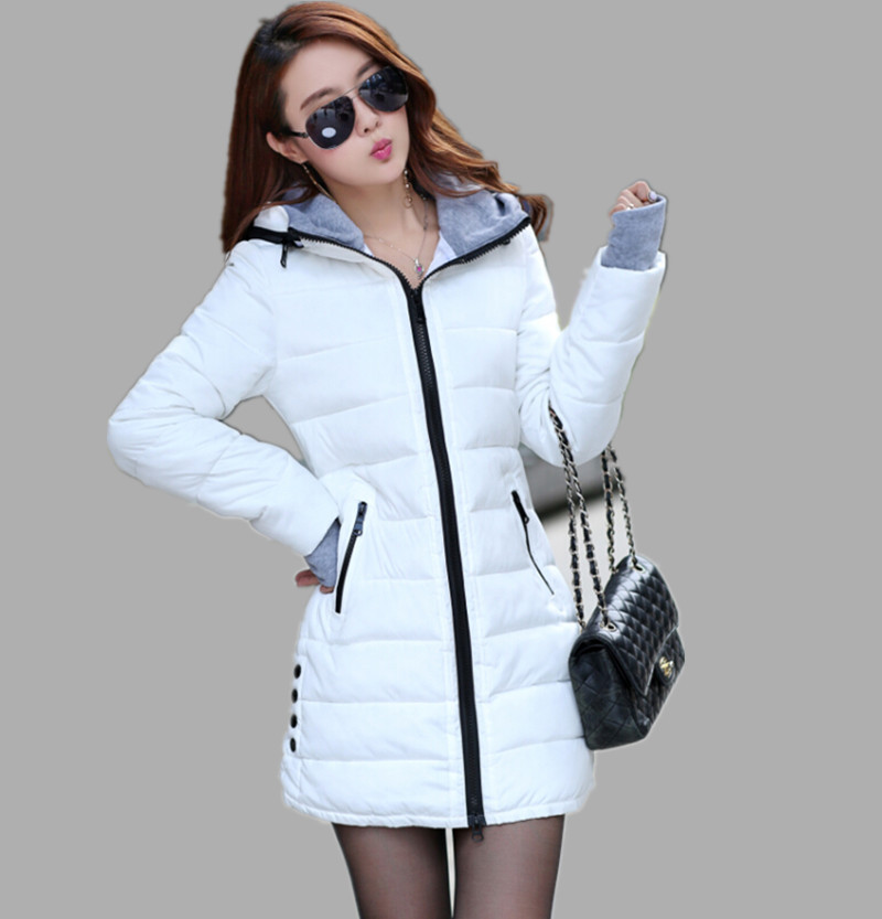 wadded jacket female 2015 new women's winter jacket down cotton jacket slim parkas ladies coat plus size XS-XXL(China (Mainland))