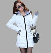 Wadded Clothing Female 2016 New Women's Winter Jacket Down Cotton Jacket Slim Parkas Ladies Coats Plus Size XS-XXL(China (Mainland))