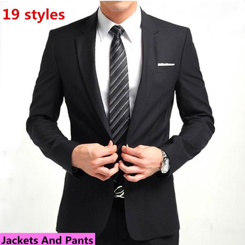 (Jackets+Pants) Men Business Suit Sets Slim Fit Tuxedo Formal Fashion Dress Suits Brand Cotton Plus Size Blazer Suits F1001(China (Mainland))
