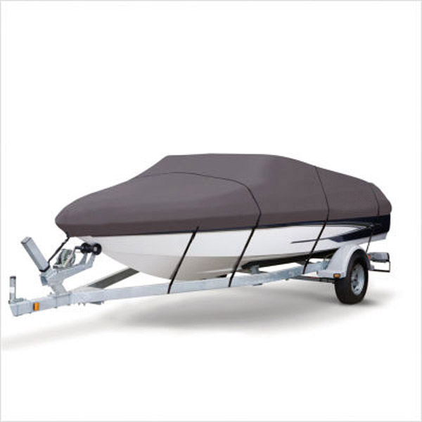 Grey Extra Heavy Duty Boat Speedboat Cover 14-16ft Waterproof Fish - Ski V-Hull