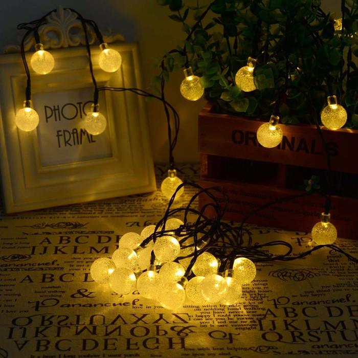 Outdoor Lighting 30 LED Solar String Fairy Lights Solar Power Crystal Ball Globe Lamp For Garden Light Christmas Decoration
