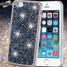 Buy KISSCASE iPhone 5S 5G SE Case Capa Luxury Bling Rhinestone Crystal Phone Case Apple iphone 5 5S SE Cute Deluxe Cover for $4.99 in AliExpress store