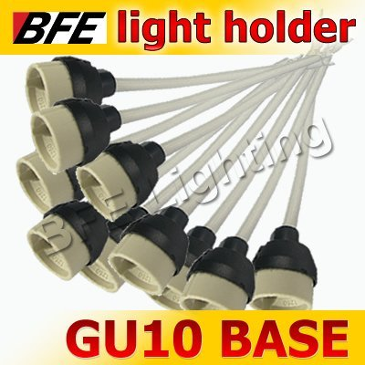 10pcs/Lot GU10 Base Socket LED Light Bulbs Lamps New Regulation Ceramic Mains Holder Wire Connector
