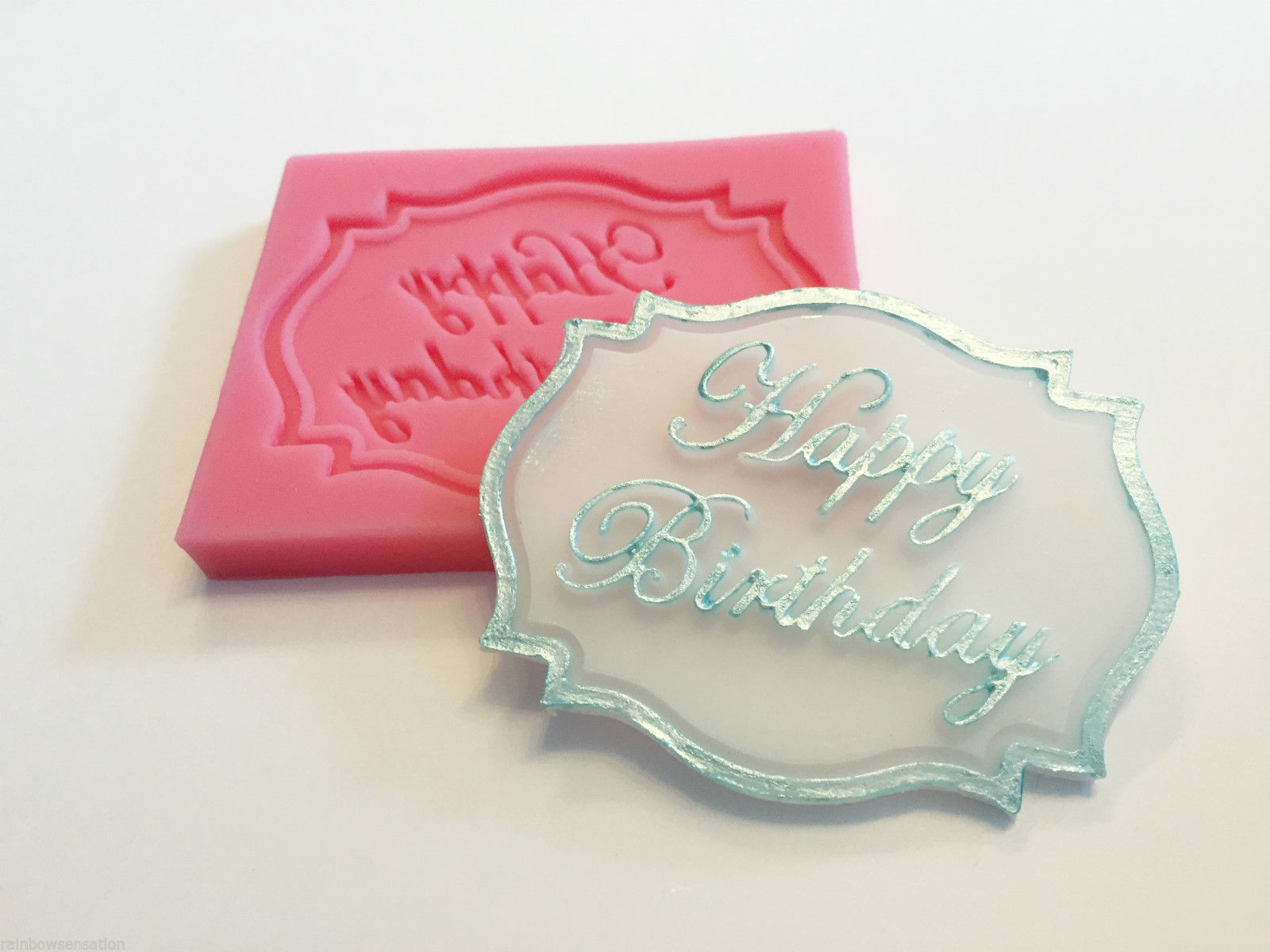 Happy Birthday Cake Cupcake Decoration Silicone Mould Mold Fondant Chocolate(China (Mainland))