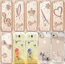 Buy Fashion Rhinestone Hard plastic case PC phone Cover Samsung Galaxy S8 Plus J5 Prime Diamond Clear Crystal Phone Case for $2.40 in AliExpress store