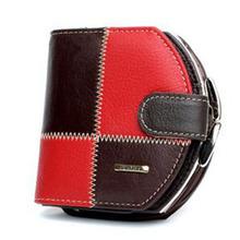 Women's Wallets Patchwork Genuine Leather Purse Short Vertical Handbag Womens' Coin Pouch Carteras Mujer Carteiras Femininas