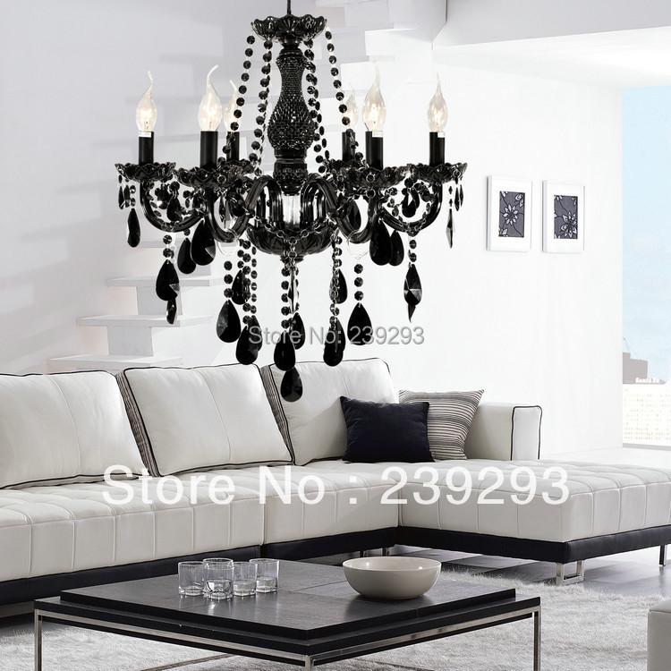 free shipping 110 240v black color crystal chandelier for