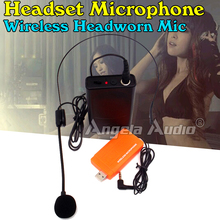 USB Receiver Headset Wireless Microphone System BodyPack Transmitter For Speaker Voice Amplifier Megaphone Computer Karaoke Mic