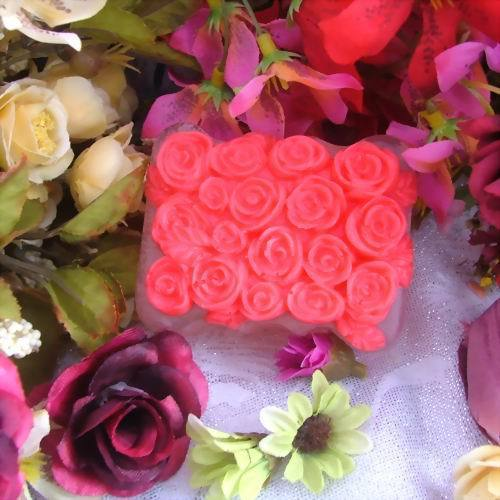 New Square Rose flower Soap Molds natural silicone mold form for soap wholesale Z099(China (Mainland))