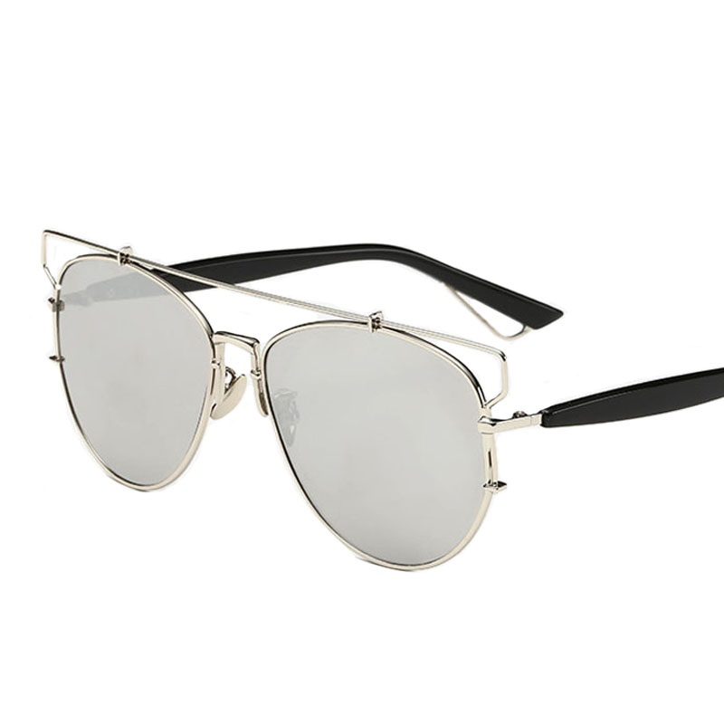 2016 new technological reflective luxury brand sun glasses Metal sunglasses for women eyewear brand designer(China (Mainland))