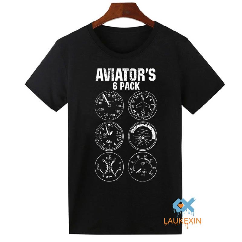 Aviator Six Pack T Shirt Funny Pilot Travel Humor Vacation Flight Novelty Mens T-Shirt Camiseta Homme Cool Tops Tee Shirts(China (Mainland))
