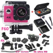 "Sports Camera 2.0"" 4K 1080P HD Camera wifi F60 Sport DV action camera waterproof 30m go camera pro style extra battery+carry bag(China (Mainland))"