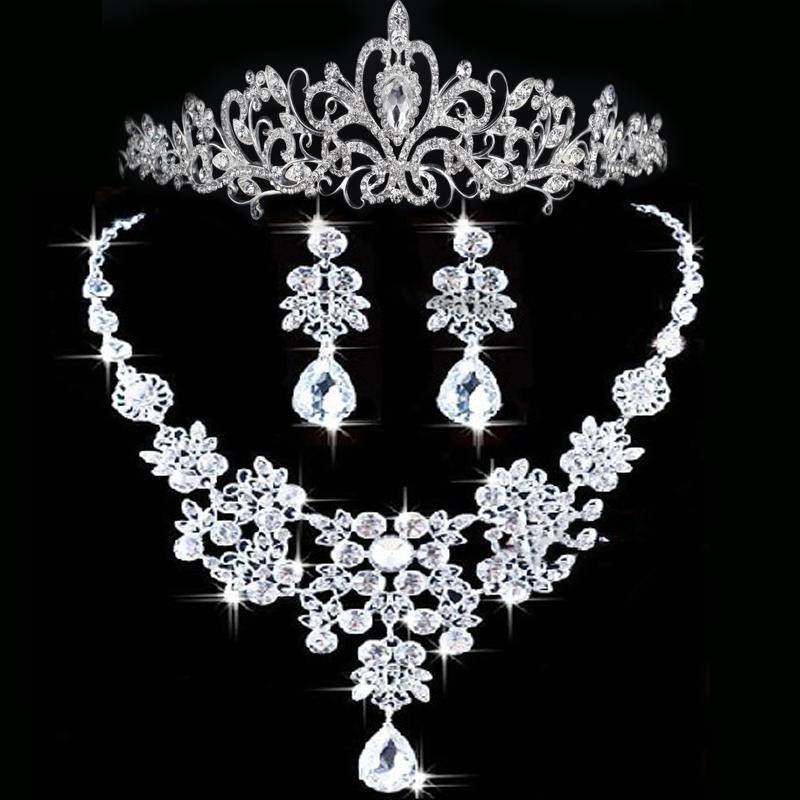 set bridal wedding accessories party jewelry wedding jewelry sets in