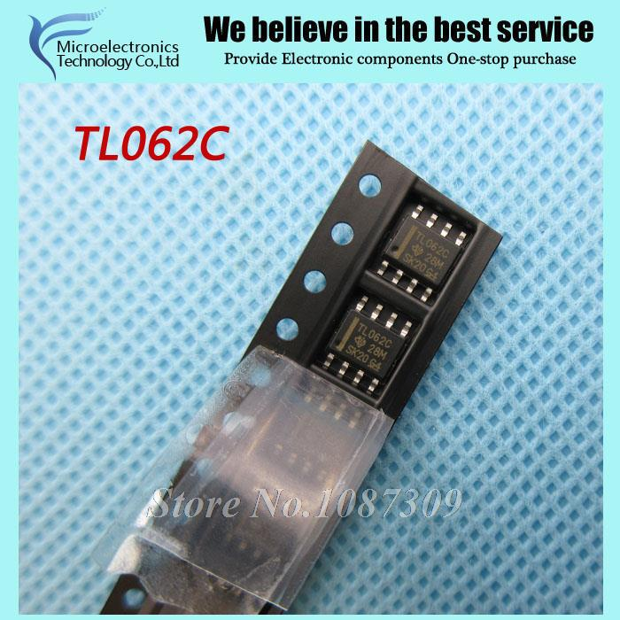 10pcs free shipping TL062C TL062 TL062CDR SOP-8 Operational Amplifiers - Op Amps Dual Lw Pwr JFET Op new original(China (Mainland))