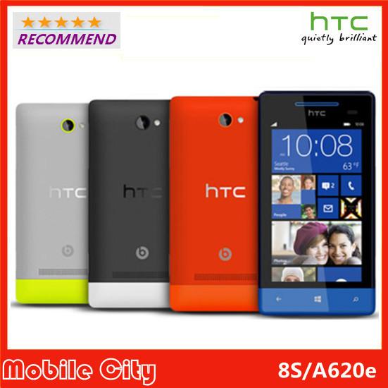 Original HTC Windows Phone 8S A620e Original Unlocked Cell phone Win8 3G GPS WIFI 4.0''TouchScreen 5MP camera Free Shipping(China (Mainland))