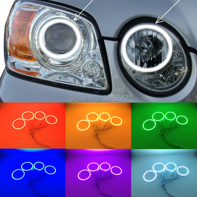 For Kia Optima MAGENTIS 2003-2006 Excellent Angel Eyes kit Multi-Color Ultrabright RGB LED Angel Eyes Halo Rings<br><br>Aliexpress