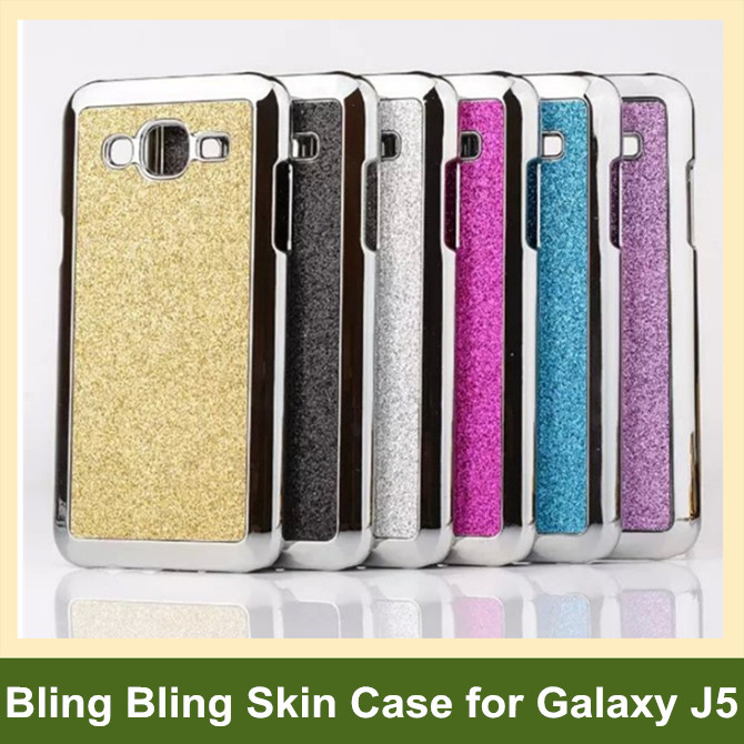 Cool Bling Skin Electroplated Aluminum Metal PC Hard Cover Case Samsung Galaxy J5 SM-J500F 3