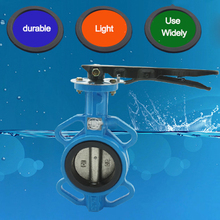 D71X-16 4 inch water/steam PTFE seal pneumatic diaphragm manual butterfly valve(China (Mainland))