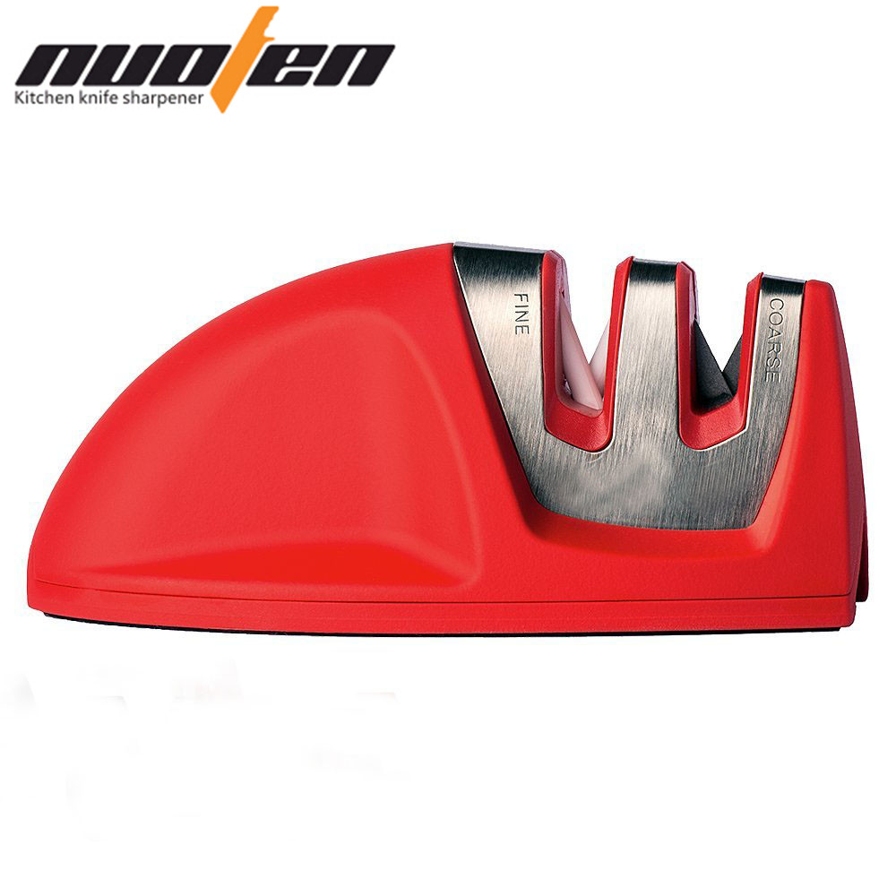 NUOTEN Kitchen Knife Sharpener Kitchen Accessories Tool 2 Stage Knives Sharpening Machine Red Black Afilador Cuchillos(China (Mainland))