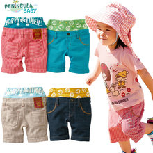 Summer Casual Stripe Beach Shorts Children Clothes Cotton Baby Boys Girls Trousers Sports Pants Toddlers Bebe Beach Wear(China (Mainland))
