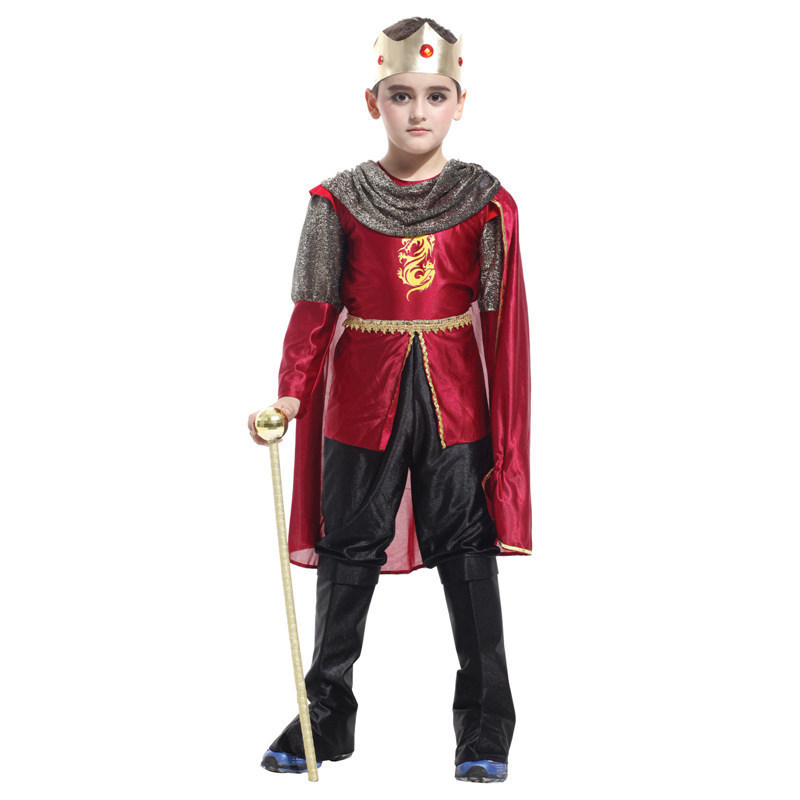 SHIEK OF ARABY King prince cosplay costume Halloween Christmas party charming unique clothing suits with cape(China (Mainland))
