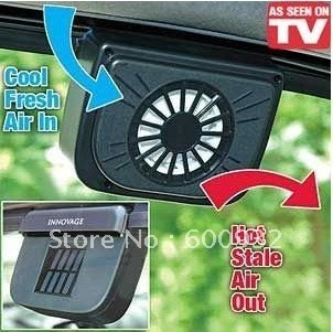 DHL Free Shipping Solar Power Car Auto Cool Air Conditioning Cooler Fan With PVC Gasket