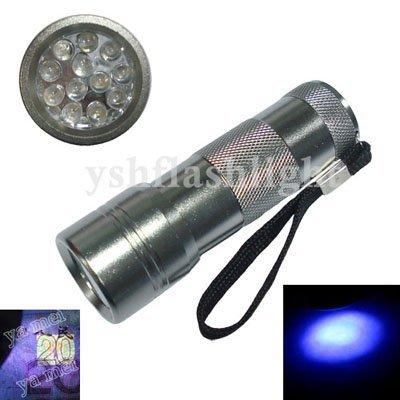 free dropshipping UV 12LED Blacklight Flashlight torch light check money