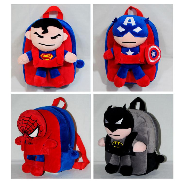 3D Minions Plush Doll Backpacks/Kids Spiderman Owl School Bags/Totoro Doraemon Toy  Bags/Baymax Minnie Mouse Shoulder Mochilas(China (Mainland))