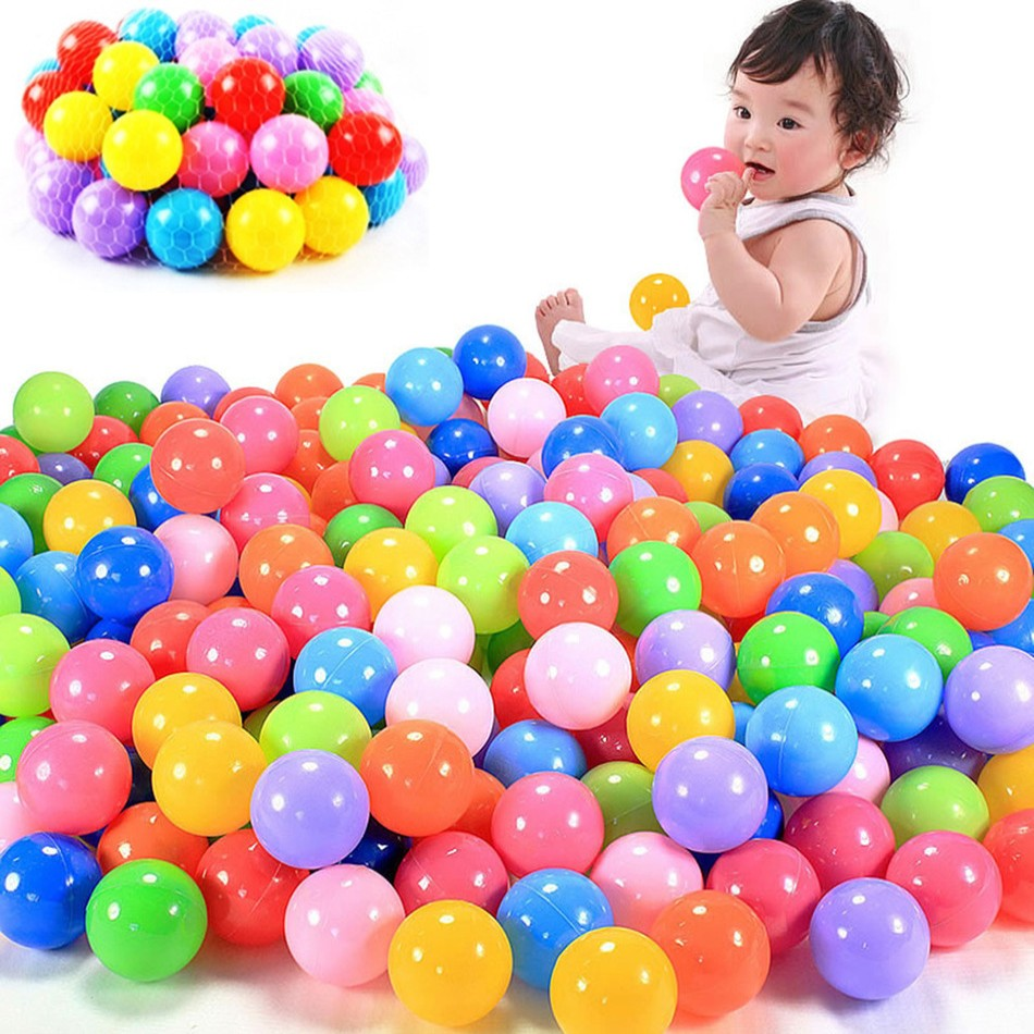 100 pcs Eco-Friendly Colorful Ball Soft Plastic Ocean Ball Funny Baby Kid Swim Pit Toy Water Pool Ocean Wave Ball free shipping(China (Mainland))