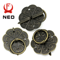 NED 20PCS Retro Metal Kitchen Drawer Cabinet Door Handle And Furniture Knobs Handware Cupboard Antique Brass Shell Pull Handles