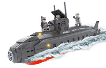 502pcs Submarine warships Toy Minifigures Blocks Model Building ABS 3D DIY Plastic assembly Exploiture(China (Mainland))